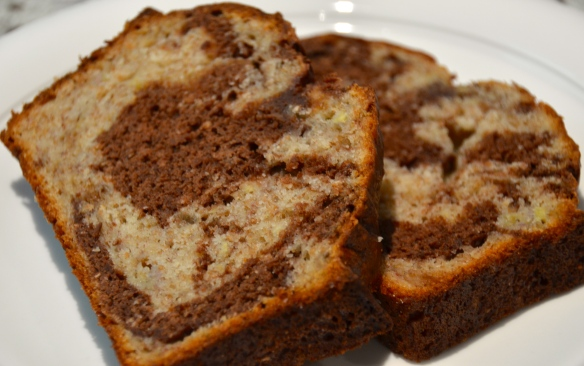 Healthy Marble Banana Bread