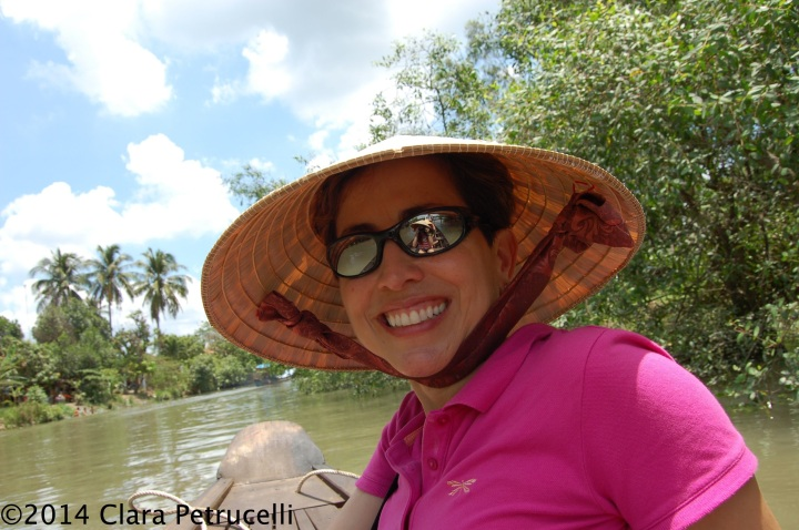Relishing the trip in the Mekong Delta, outside of Ho Chi Minh City, Vietnam.