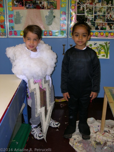 2002 - My son on the left in yet another costume I made, representing lightning. He is standing next to his Sikh buddy. His mother would share concerns over whether or not to cut his hair for kindergarten. In Sikhism, Kesh is the practiceof allowing their hair to grow as a  symbol of respect for the perfection of God's creation.
