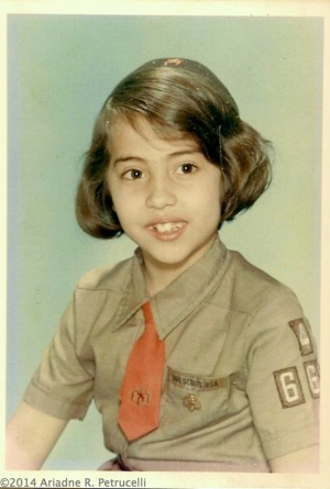 That's me as a Girl Scout Brownie in 1969.